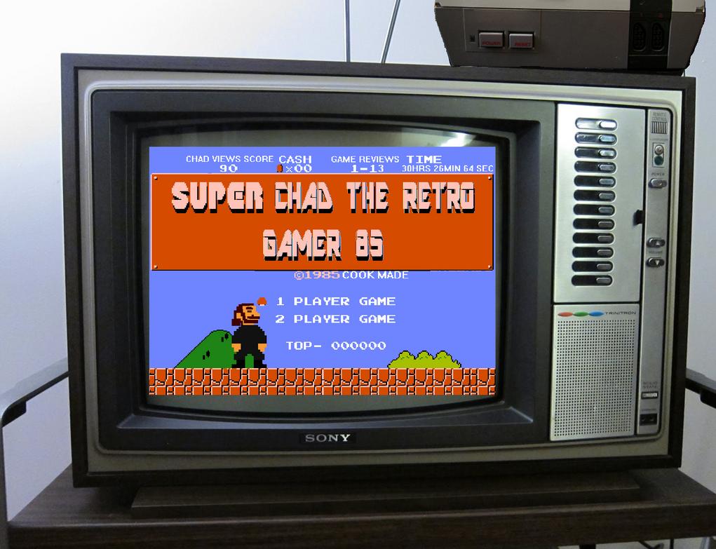 super chad the retro gamer 85 logo 2017 by animec20