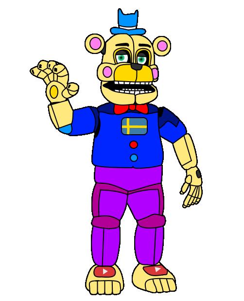 Swedish Funtime Freddy by russellsterlingdyer