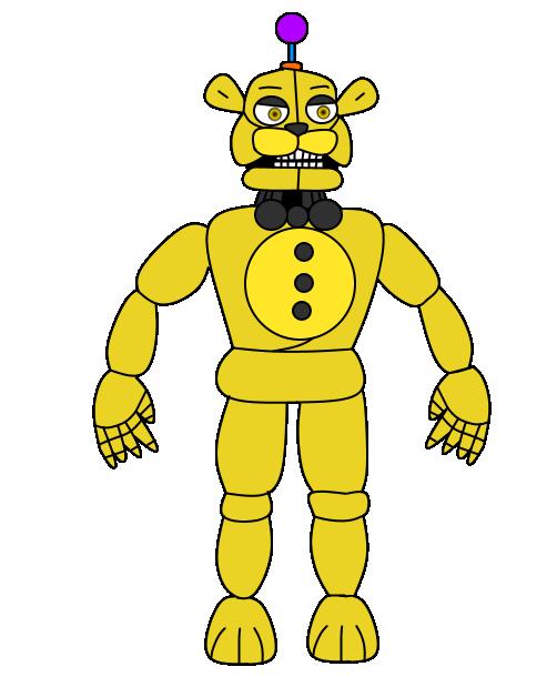 Yellow FazBear by russellsterlingdyer