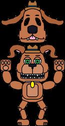TFNAGCSS - Animatronic: Tem-Ton The Puppet Dog by russellsterlingdyer