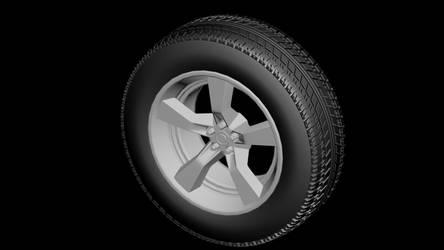 3D Modeled Tire