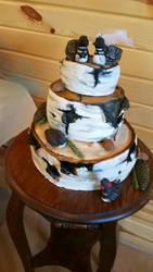 birch wedding cake by kphill