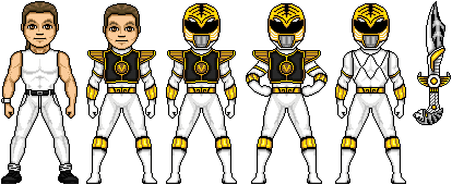 Tommy the White Ranger by MegaZeo