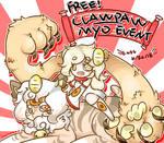 Free! Clawpaw MYO event! (CLOSED) by goldneko