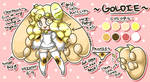 Goldie Reference Sheet (NEW) by goldneko