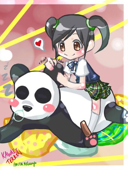 Kawaii Tekken (Xiaoyu and Panda by xiCottonCandix