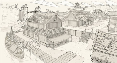 Viking Town by Sarqful