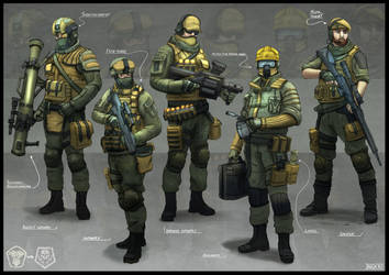 Soldier Concepts 01 by Sarqful