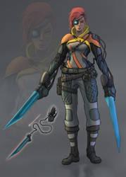 Garnet Wasteland Mercenary by Sarqful