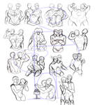 Conjoined Twins Pose Reference Sheet!