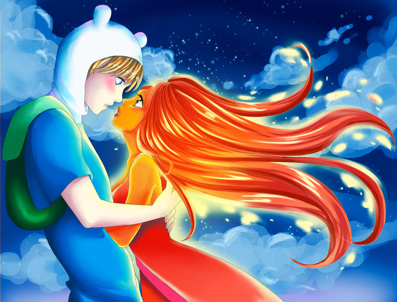 Flame Princess and Finn! by marvi92