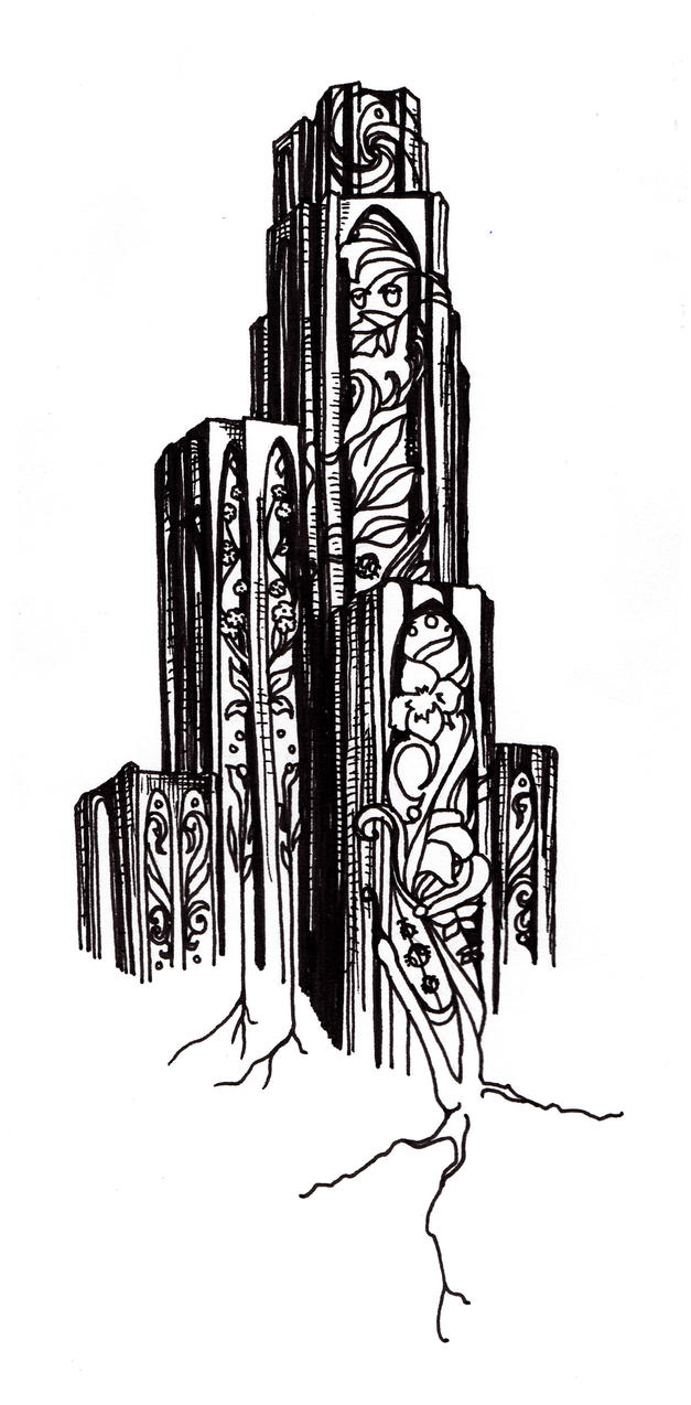 cathedral of learning sketch by alsdale on deviantart