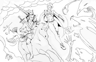 TAZ Line Art: Taako and Lup