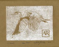 Great Blue Heron by AnitaSR