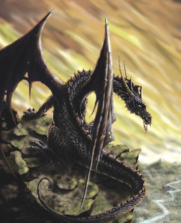 Blue dragon by J2040