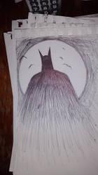 Batman doodle by J2040
