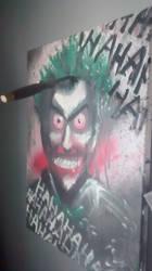 Joker painting one of three