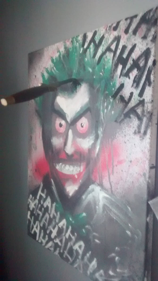 Joker painting one of three