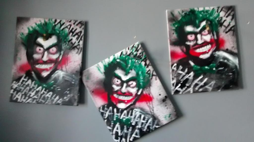 3 Joker paintings by J2040