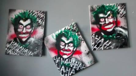 3 Joker paintings