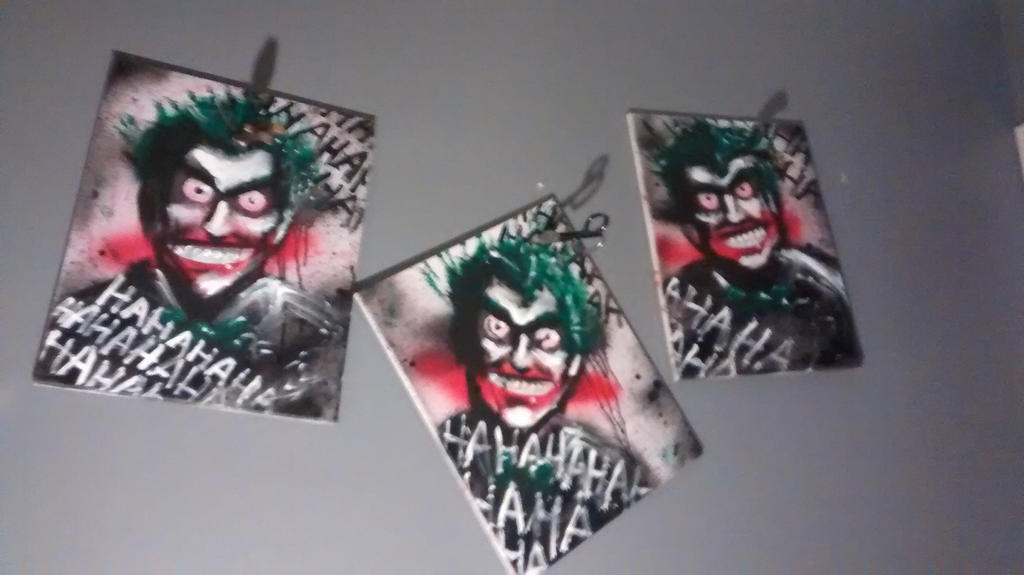 3 JOKERS PAINTING (BETTER PIC) by J2040