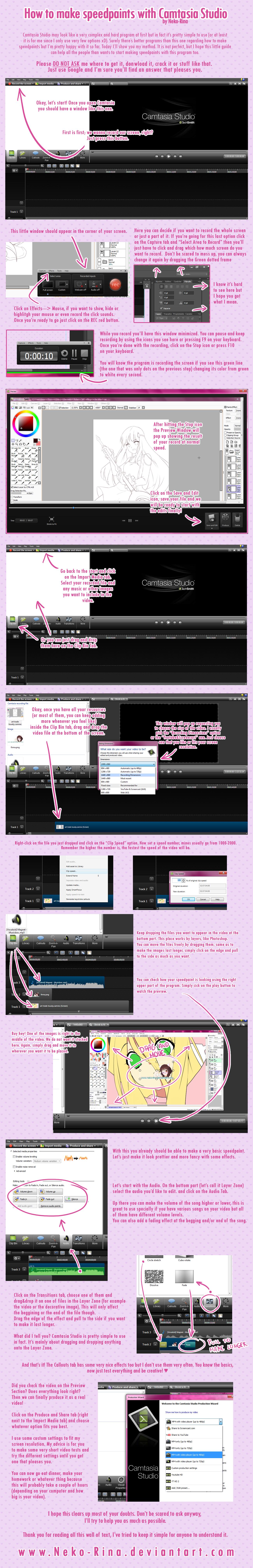 How to make speedpaints with Camtasia Studio