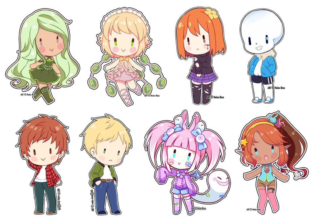 Sticker Chibis batch 2 by Neko-Rina