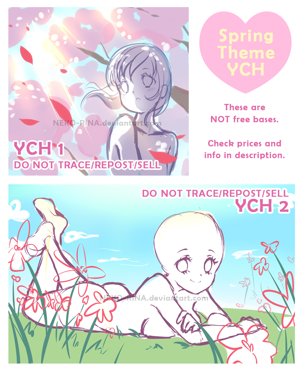 YCH Spring Edition [AUCTION CLOSED] By Neko-Rina On DeviantArt