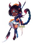 Annie Design: Blue Emperor Scorpion