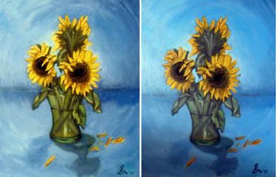 Sunflowers by MadEvilLydia