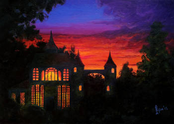 Castle at Sunset by MadEvilLydia