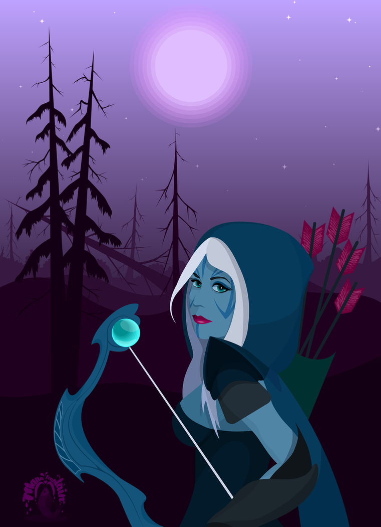 Drow Ranger by MadEvilLydia