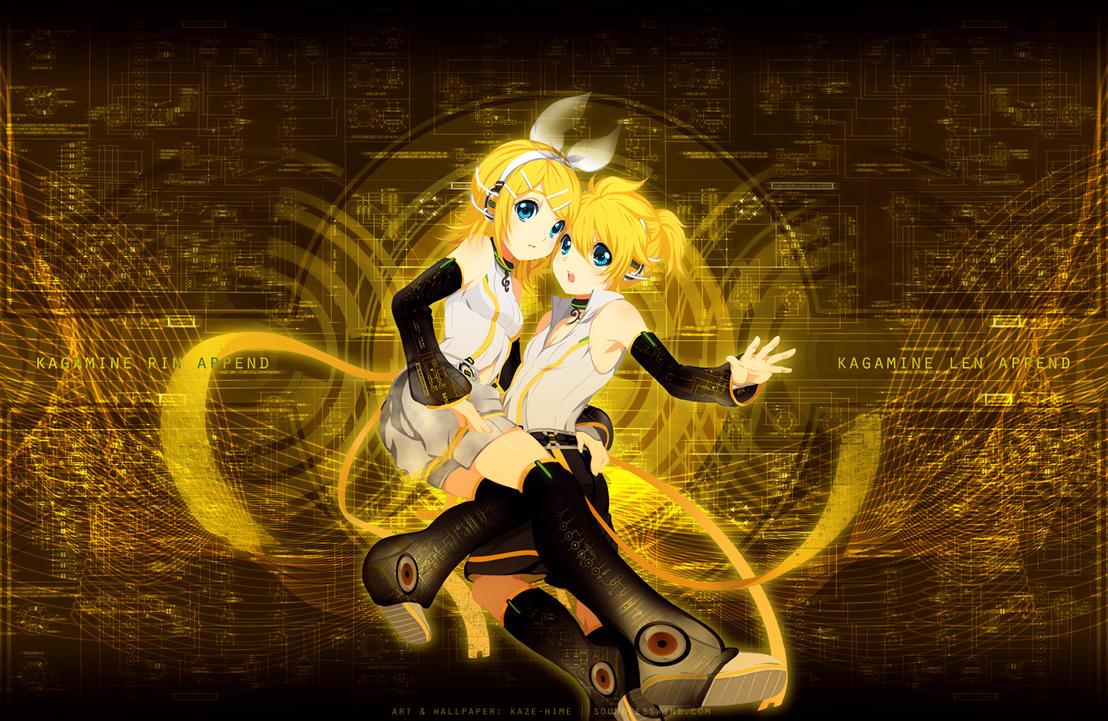 Kagamine Rin Len Append by Kaze-Hime