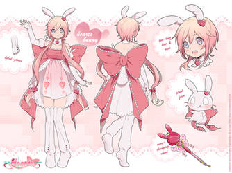 Hearte Bunny Reference Sheet by Kaze-Hime