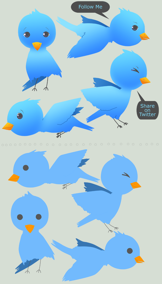 Twitter Birds by InaliBlast