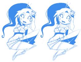 Yoko sketch by InaliBlast