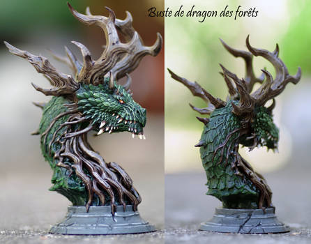 Bust of forest's dragon