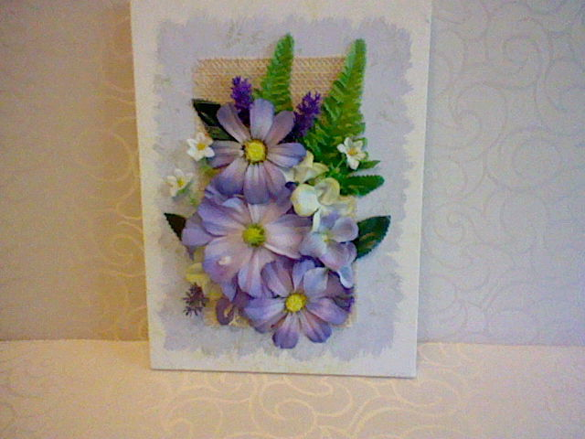 3D canvas flower arangment by HelenFlower