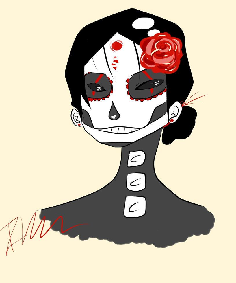 Dia de los muertos girl by bunnykiller23