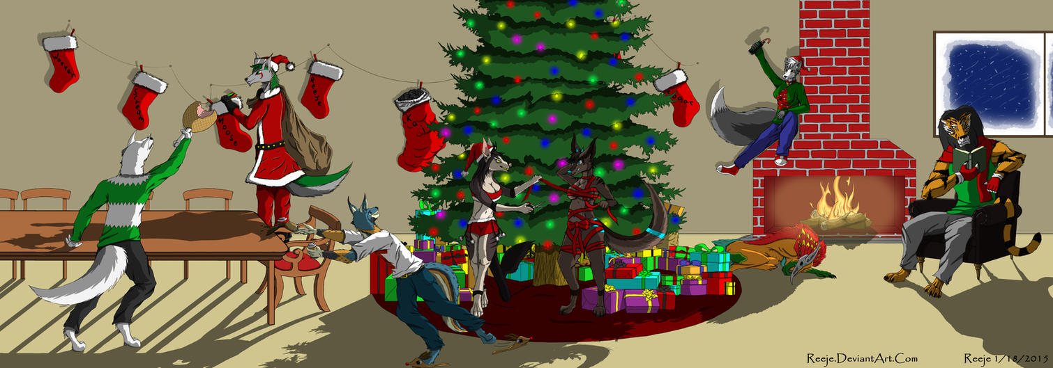 the big furry christmas party 2014 by reeje - Christmas Furry