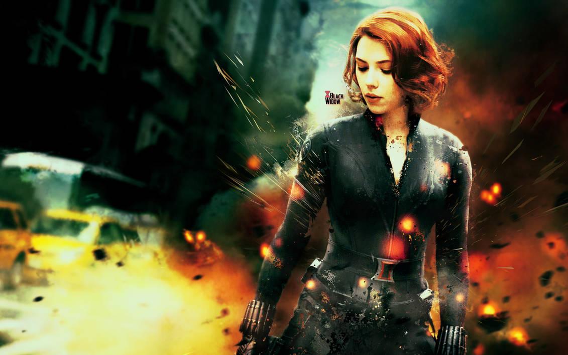 The Avengers Black Widow Wallpaper by The-Potara-Fusion