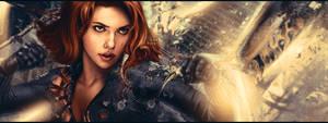 Black Widow Facebook Cover by The-Potara-Fusion