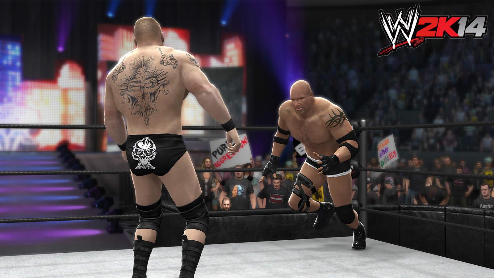 WWE 2K14 Screenshots WM20 Goldberg vs Brock Lesnar by ThexRealxBanksWwe 2k14 Screenshots Goldberg