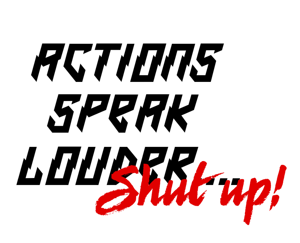 ASL SHUT Up Shirt Logo by ThexRealxBanks