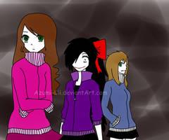 Sally,Nina y Clockwork by Azumi-Lii