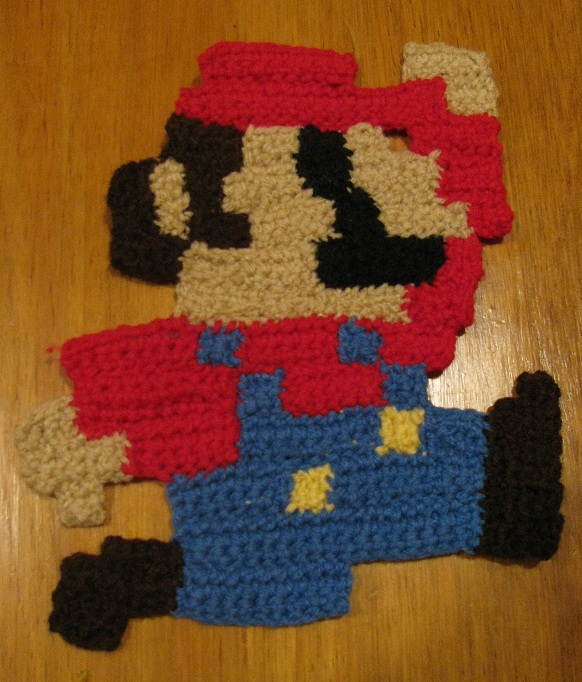 Crochet Pattern For Mario Blanket : Crochet 8-bit Mario by WingedMidnight88 Images - Frompo