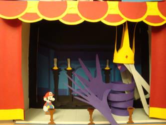 Paper Mario vs. shadow queen by ElloEiskind