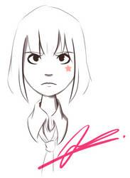 Random Sketch 9: Erika by RejectedSG