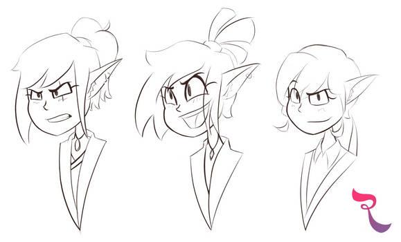 Randome Sketch: 15.  Elf Sisters~ by RejectedSG