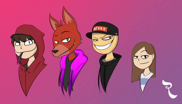 Random Sketch 16 - Favorite Youtubers